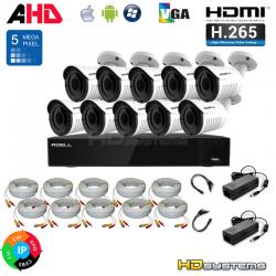 Kamerový set ADELL HD-1600PX51030H5F (5Mpx)