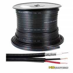 Koaxiální kabel RG59 s napájecí dvoulinkou 2x 1.0mm
